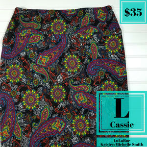 LuLaRoe Cassie Paisley Pencil Skirt
